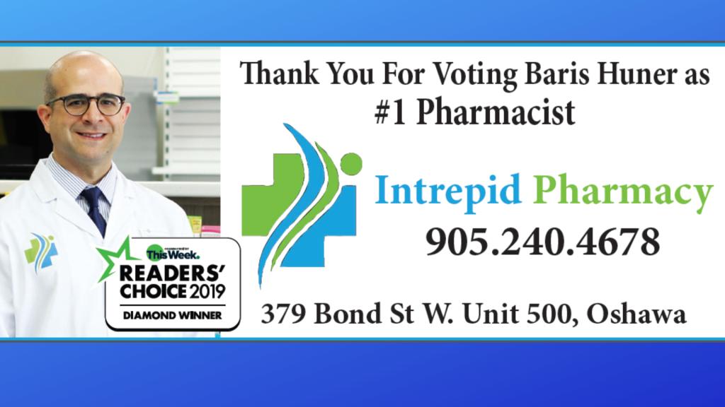 Voted best pharmacist in Oshawa